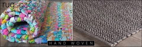 hand woven flat weave rug
