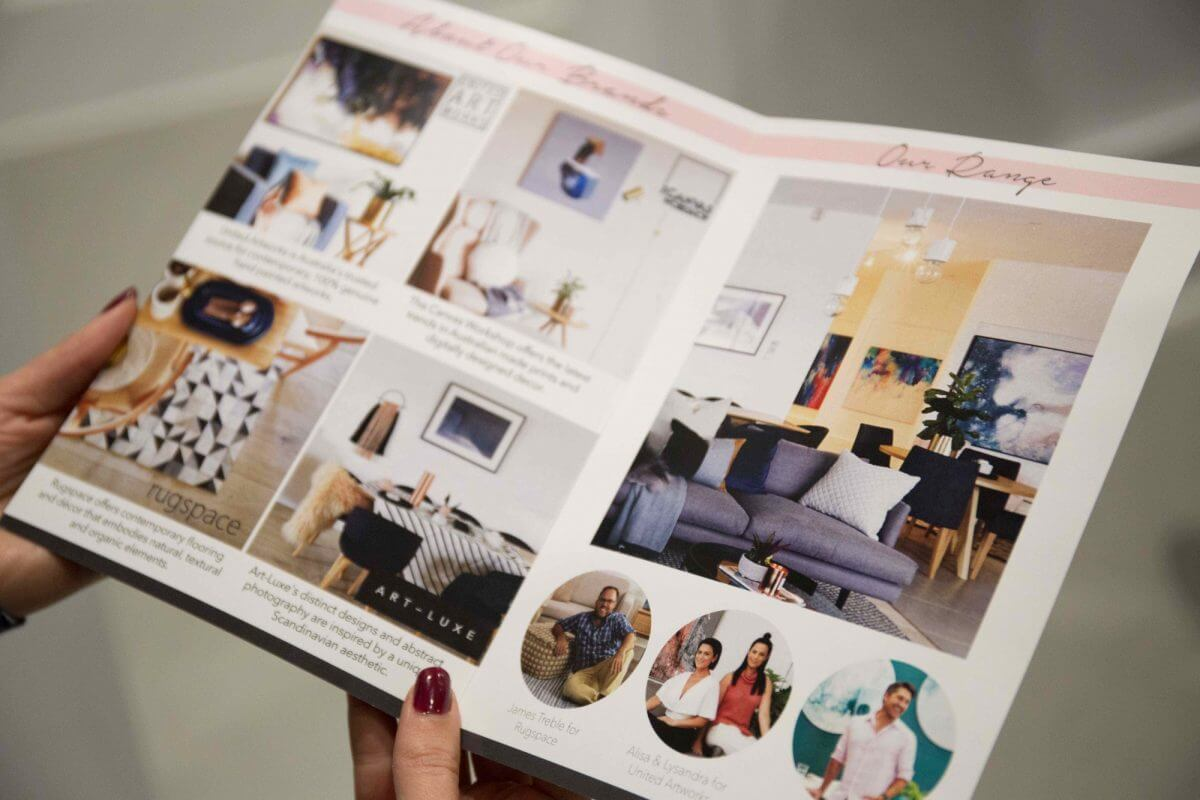 united interiors showroom art gallery launch event VIP party pictures brochure