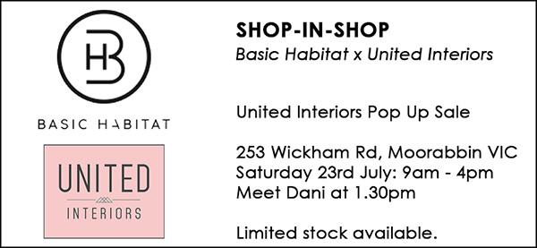 shopinshop dani wales basic habitat united interiors pop up sale 23rd july