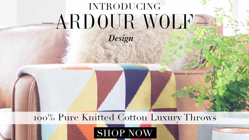 spring arrivals throws ardour wolf throws cotton