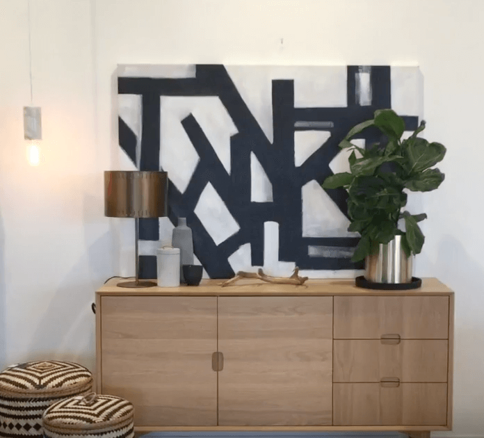 how to style a sideboard 3 ways james treble united interiors hand painted artwork striking k line black and white
