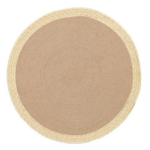 Metallic rug round rug rug space jute natural