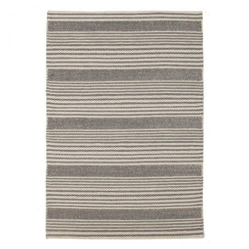 stripes scandinavian rug grey and white rug space
