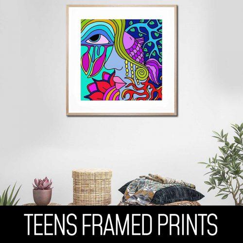 Teens Framed Prints